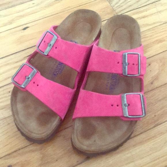 6e446a34d49d Birkenstock Shoes - Excellent condition hot pink birkenstocks